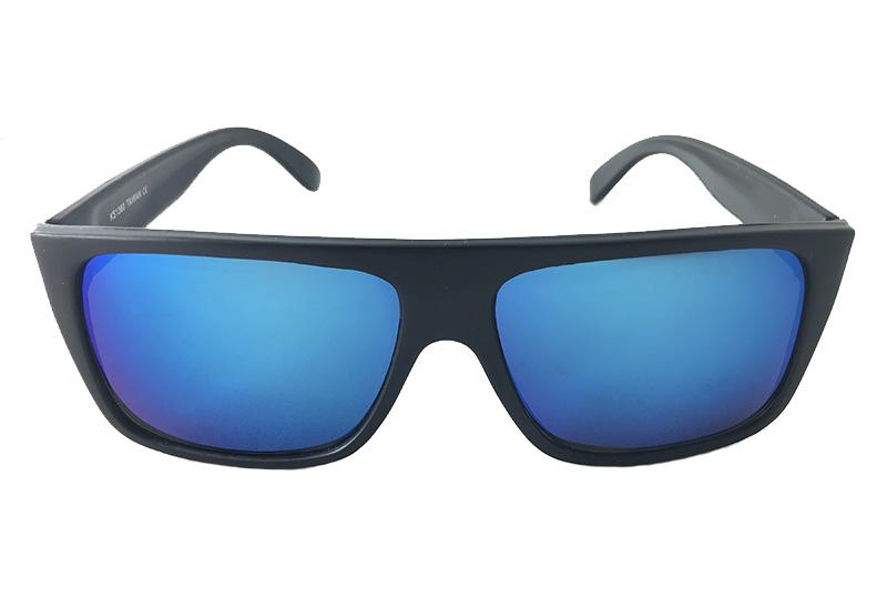 2a2dcdf6eb49 Seje solbriller i sort mat stel med spejlrefleks linser - Design nr ...