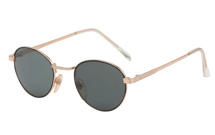 Norges billigste solbriller Rund solbrille i sort og