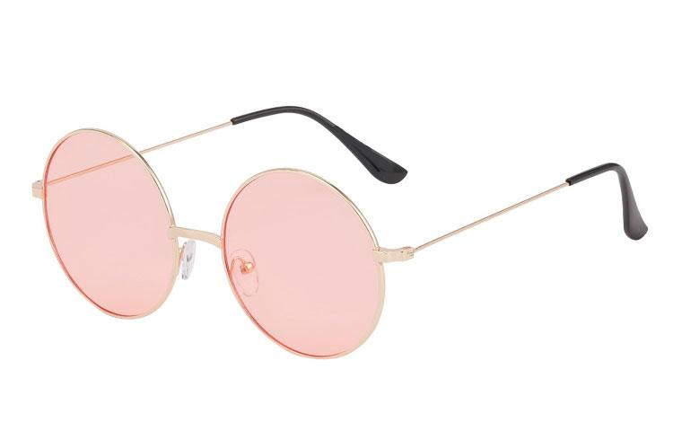 Norges billigste solbriller Rund metal solbrille med lys