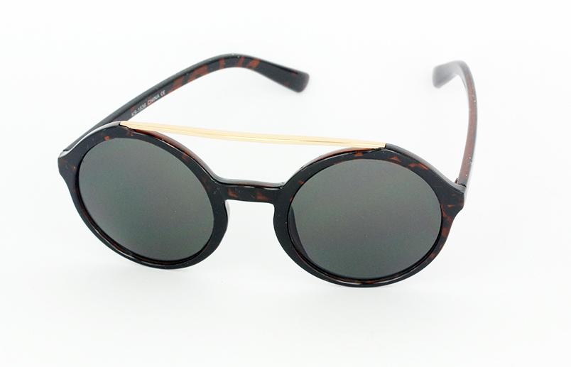 3fa13c09b Stor rund solbrille i mørk skildpaddebrun - Design nr. s1059 i ...