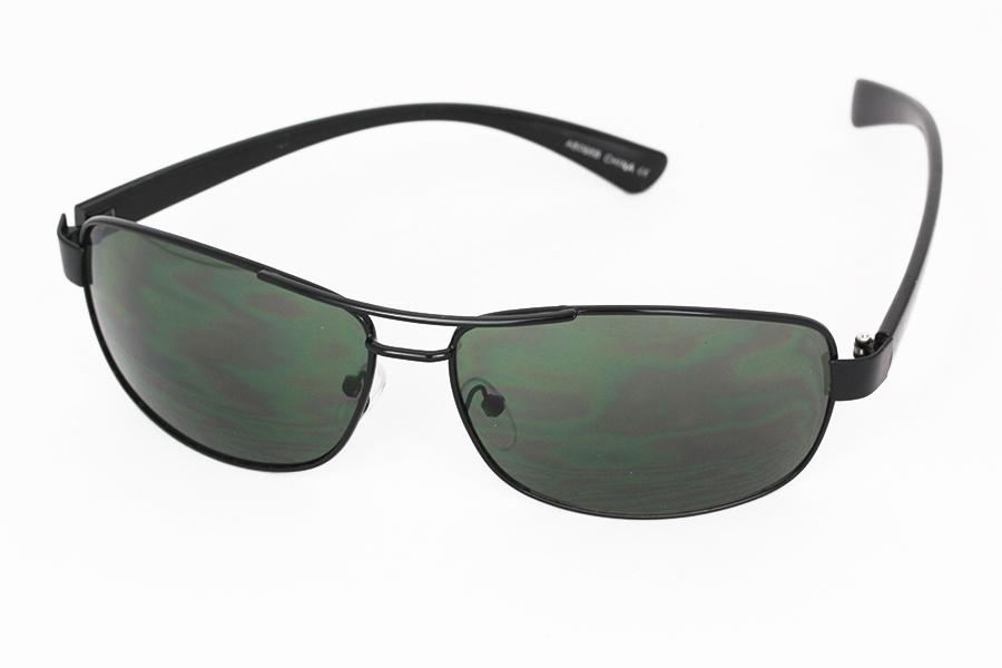 Billiga Solbriller mænd solglasögon Sort metal solbrille
