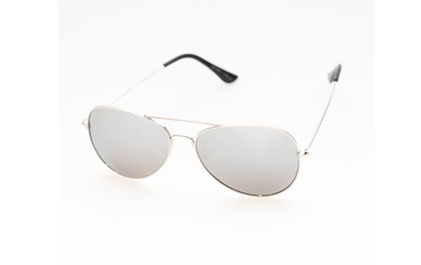 c13d0917cddf Billig Sølv aviator pilot solbrille med spejlglas - Norges billigste  solbriller