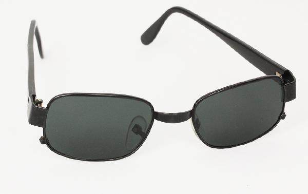 19d008f6e5d7 Billiga Solbriller med mørkt glas solglasögon - Sort metal solbrille ...
