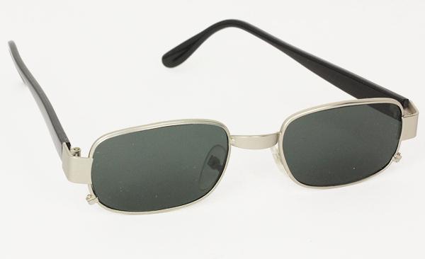 Norges billigste solbriller Firkantet mat sølv solbrille
