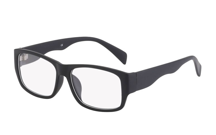 65c2fbfad931 Billig Mat sort brille uden styrke - Sveriges billigaste solglasögon