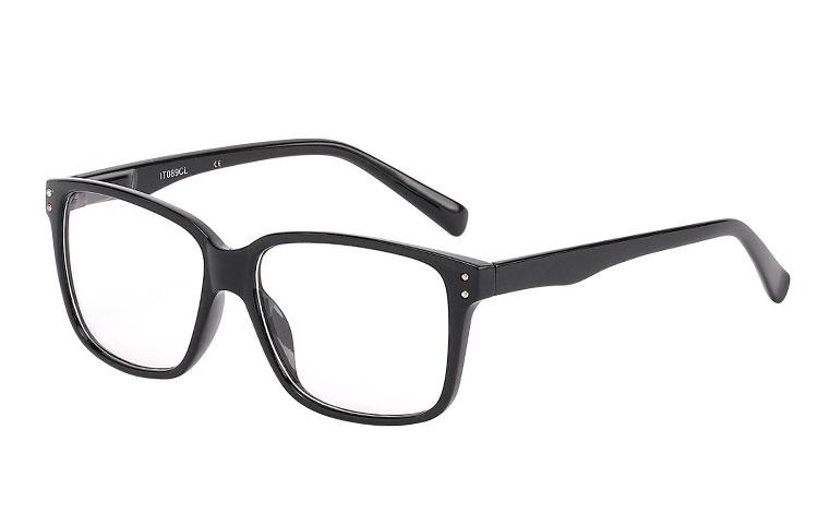 1d5eab5c8548 Billig Sort brille i enkelt firkantet design - Sveriges billigaste  solglasögon
