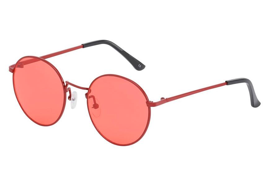 314a89f81b45 Ss3746 Moderigtig solbrille i rødt metalstel med røde linser ...