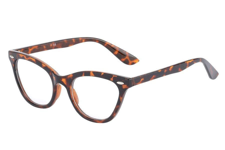 be9f0fbf05ca Ss3762 Cateye brille i skildpaddebrun   leopard mønstret stel med ...
