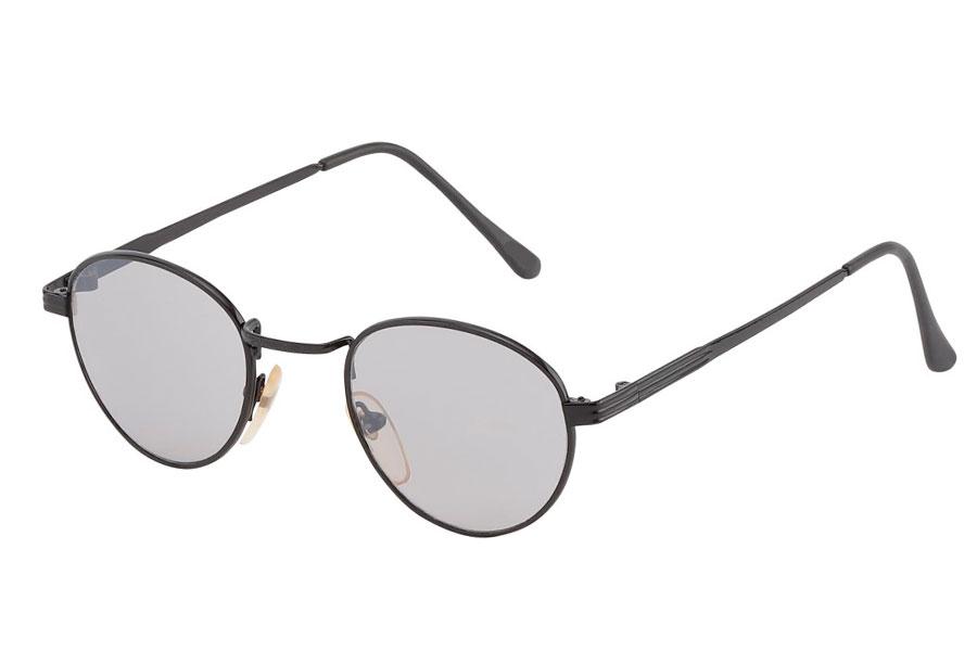 e1ee451fba0d Billig Dråbeformet solbrille i sort metal stel - Norges billigste solbriller