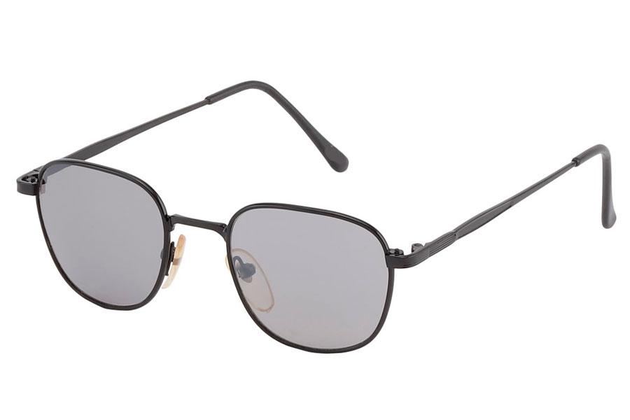 b95576d31034 Billig Firkantet solbrille med runde former i sort metal stel - Sveriges  billigaste solglasögon