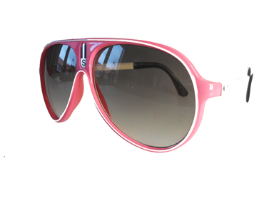 Pink aviator solbrille m/ hvid streg | search