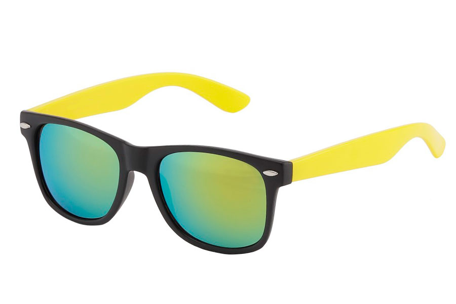 Wayfarer solbrille Sort m/gul | search