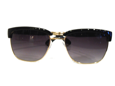 Clubmaster agtig solbrille metal m/ sort | search