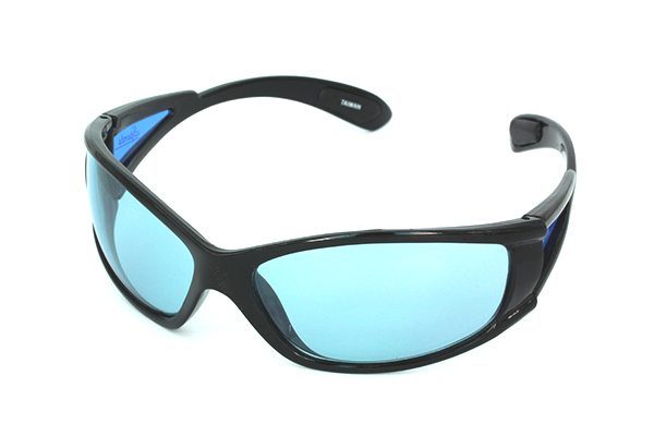 Sort løbesolbrille i sporty design | search