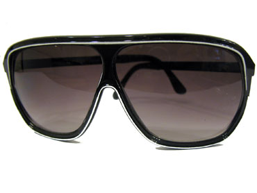 Sort aviator med stribe - Design nr. s848