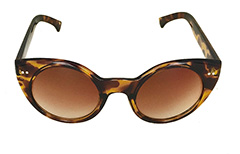Lys cat eye solbrille i hornbrille look. - Design nr. 3256