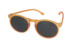 Mat orange rund solbrille - Design nr. s3224