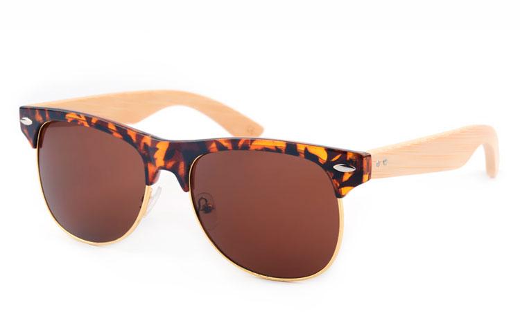 Norges billigste solbriller Clubmaster solbriller i sølv