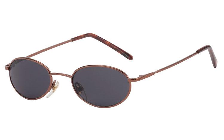 Smal oval moderigtig solbrille i bronze farvet stel - Design nr. 3556 b5aeecef36d74