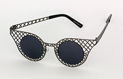 Sort metalgitter solbrille - Design nr. 1034
