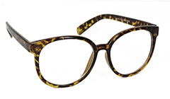 Smart brille i lys leopard - Design nr. s3086