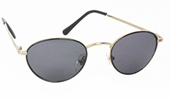 Sort oval mode solbrille - Design nr. 3122