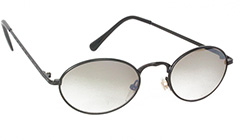 Sort oval solbrille med smokeyglas - Design nr. 3123