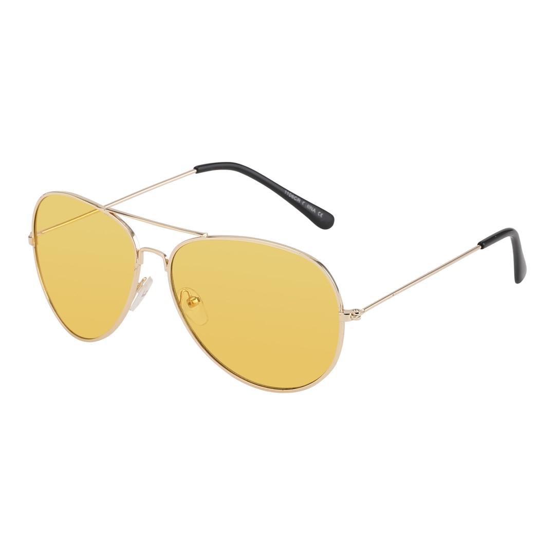 solbriller med gult glas