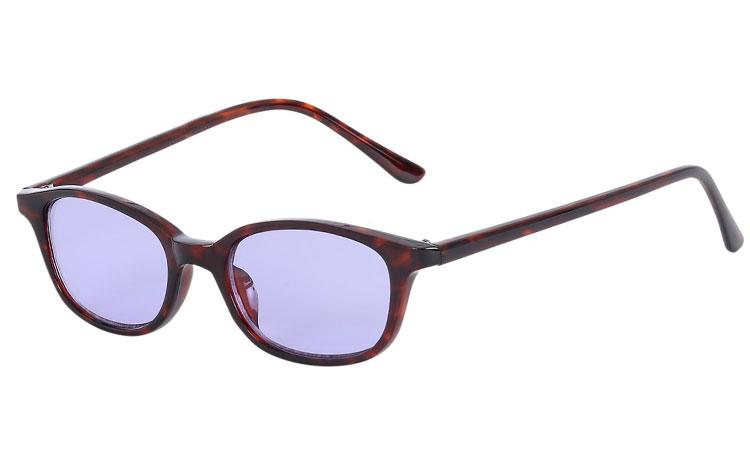 e85a31972d93 Mørk rød-brunt skildpadde   leopard solbrille med lyse lilla glas - Design  nr.