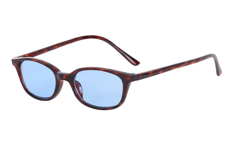 4b589dce6464 Mørk rød-brunt skildpadde   leopard solbrille med lyseblå glas - Design nr.  s3613