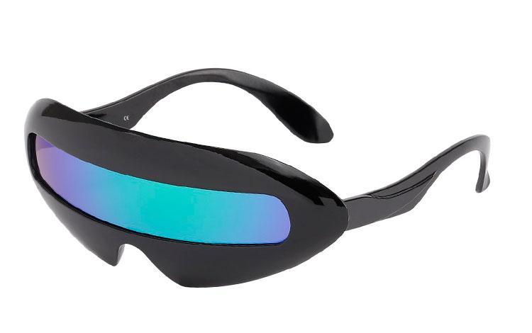 bfde8c75ca8a Marvelous Mosell solbrillen i sort med blå-grønne glas - Design nr. 3632