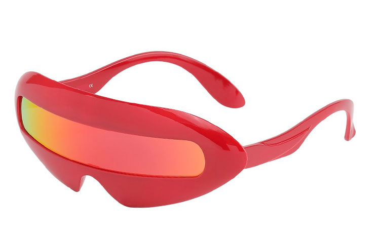 Rød retro spacy Star Trek / Marvelous solbrille - Design nr. 3635
