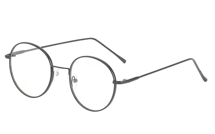 Moderne metal brille i let og stilet sort design. - Design nr. s3663