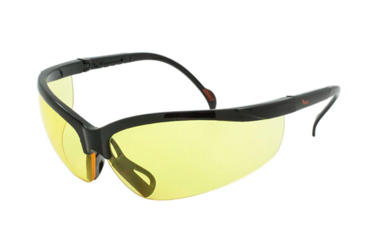 Sort sports / kørebrille med gule glas - Design nr. s3697