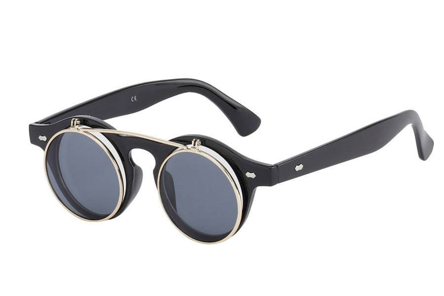 f6d25c9a61b6 Fræk hipster flip up solbrille - Design nr. s3713