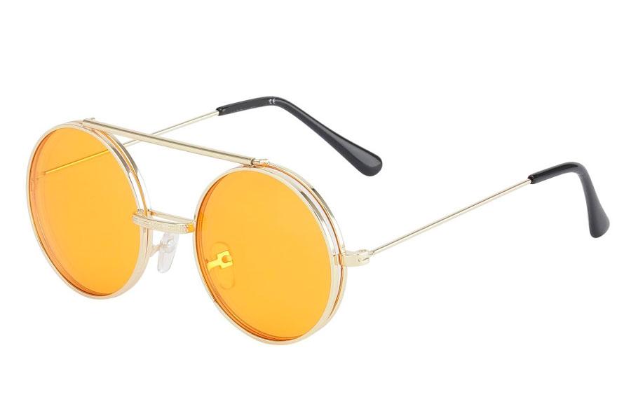 85ca394ac5b6 Brille med flip-up solbrille med orange glas. - Design nr. s3727