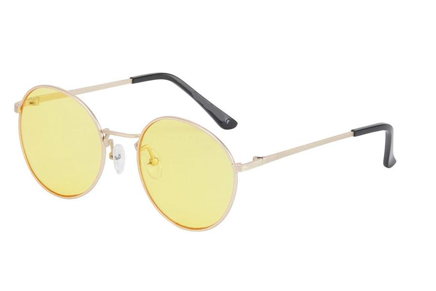 c4908d326b6f Moderigtig solbrille i mat guldfavet stel med gule linser - Design nr. s3745