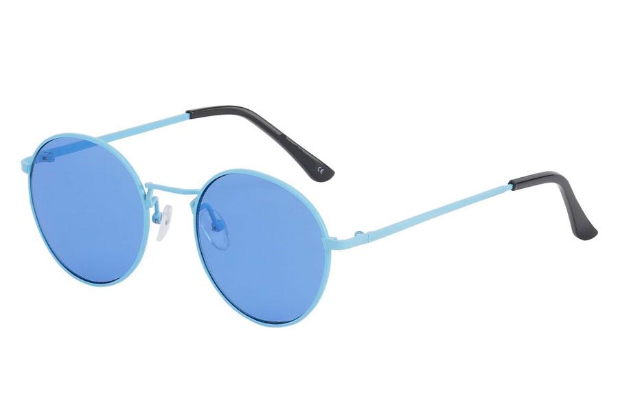 16c99b828fad Moderigtig solbrille i lyseblåt metalstel med blå linser - Design nr. s3747