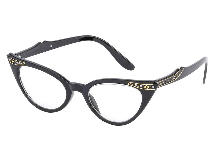 275ca6dc5954 Smuk cateye brille med similisten og guldstjerner. - Design nr. s3763