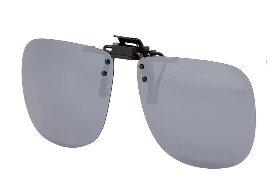 0f0239cef0c0 Polaroid clip-on solbriller med sølvfarvet spejlglas - Design nr. s3766
