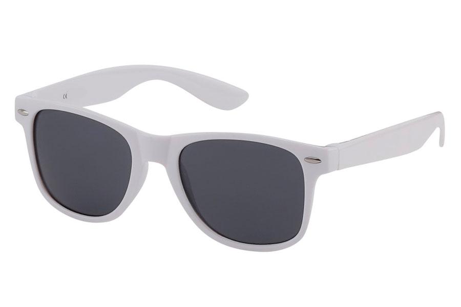 25bd3f91e867 Hvid wayfarer solbrille med alm. mørke solbrilleglas. - Design nr. 3825