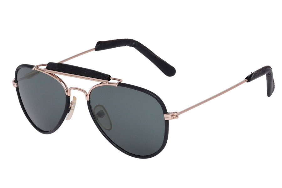 LILLE aviator / pilot brille i Retro design med sort