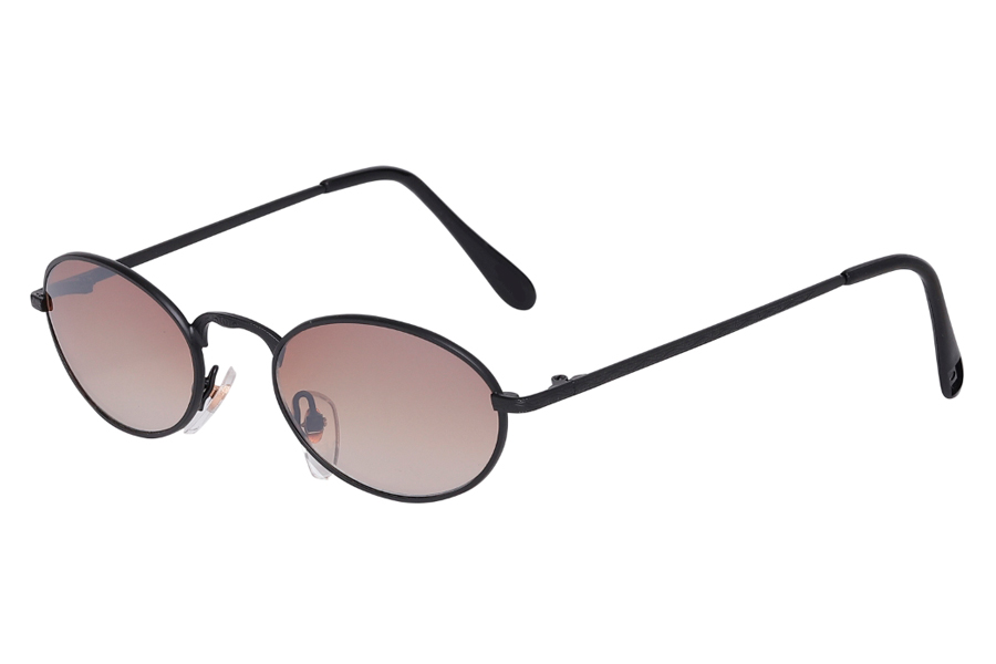 Oval solbrille i mat sort - Design nr. s4023