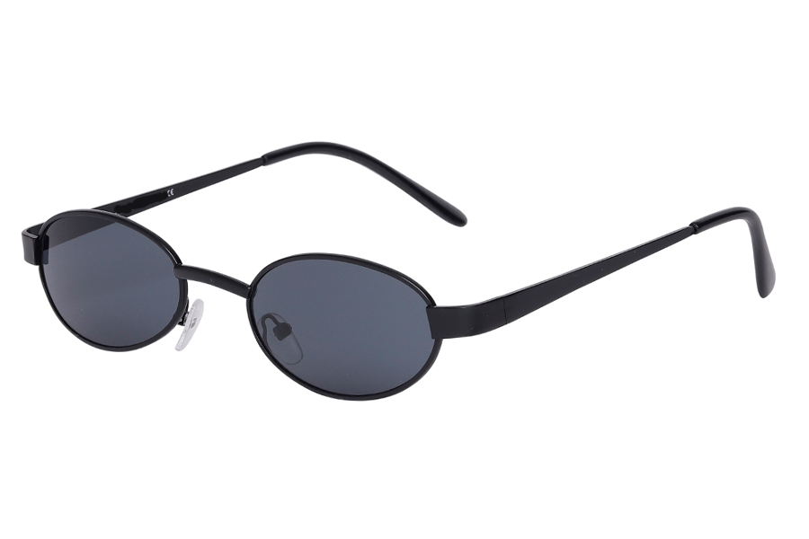 Sort oval mode solbrille - Design nr. s4026