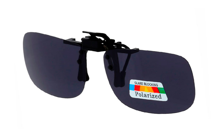 Sort polaroid clip-on solbrille - Design nr. s4058