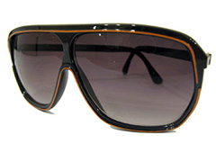 Brun aviator med orange - Design nr. s849